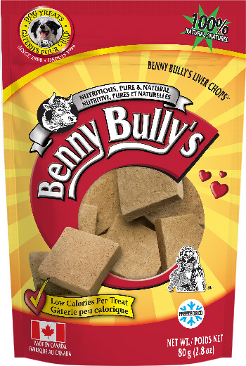 Benny Bullys Liver Chops® 80g Dog Treats Bag
