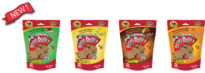 NEW Benny Bullys Beef Liver Plus Apple, Banana, Sweet Potato, and Pumpkin Dog Treats